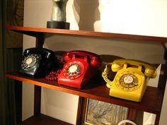 Rotary Phones Window Displays, Rotary, Landline Phone, Phones, Desk, Windows, Living Room, Store Windows, Writing Table