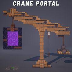 Minecraft Portal, Cute Minecraft Houses, Minecraft Plans, Minecraft House Designs, Minecraft Survival, Amazing Minecraft, Minecraft Tutorial, Minecraft Blueprints, Minecraft Memes