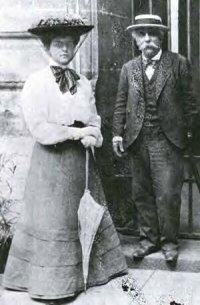 Gabriel Fauré with his pupil, the great educator Nadia Boulanger, ca.1904