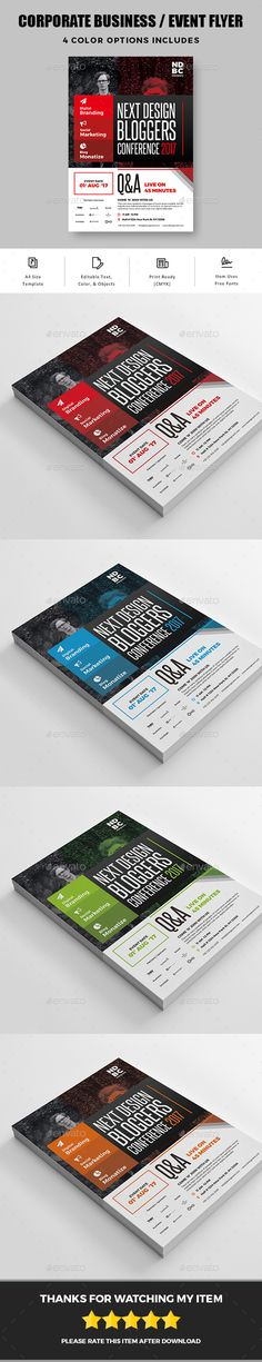 Buy Corporate business event flyer by graphicsegg on GraphicRiver. CORPORATE BUSINESS / EVENT FLYER Simple Corporate business / event Flyer Template is a great tool for promoting your . Corporate Flyer, Corporate Business, Corporate Events, Event Poster Design, Flyer Design, Event Marketing, Sales And Marketing, Event Flyers, Business Events