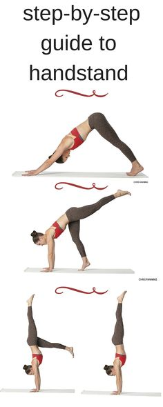 Find your edge and shift your weight into your hands as you move step by step into Adho Mukha Vrksasana.