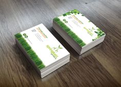 #BusinessCards for Springkell Gardens, #mowing and #gardening services.  #GraphicDesign #BusinessCard #Grass