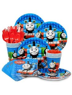 Find Thomas Party Standard Kit Serves 8 Guests and other All Parties party supplies. The most popular party Supplies and Decorations, all available at wholesale prices! Train Birthday Party Cake, Thomas Birthday Parties, Thomas The Train Birthday Party, Train Party, 3rd Birthday, Birthday Ideas, Party Kit, Party Packs, Zug Party