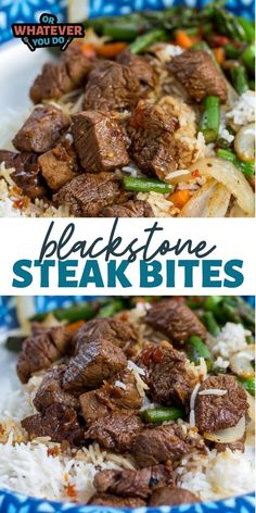 Blackstone Spicy Asian Steak Bites are tender pieces of steak that have been cut into bite-sized cubes before being marinated in a soy, pineapple, and garlic sauce that not only marinates the meat but also becomes the sauce too. Outdoor Cooking Recipes, Outdoor Griddle Recipes, Top Recipes, Steak Recipes, Hibachi Recipes, Healthy Grilling Recipes, Flat Top Grill, Griddle Grill, Cooking Stone