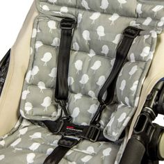 Amazon.com: Outlook Universal Cotton Stroller Liner Seat Cushion Pad (Grey Birds): Baby