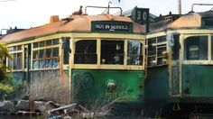 Melbourne's famous green and yellow W-class trams left to rust   Herald Sun