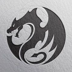 New tattoo geometric art graphics 39 Ideas Logo D'art, Art Logo, Design Dragon, Art Sketches, Art Drawings, Dragon Tattoo Designs, Dragons, Dragon Art, Logo Dragon