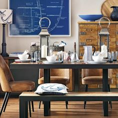 Nautical dining room | Dining room ideas for everyday and special occasions | Dining room | PHOTO GALLERY | Ideal Home | Housetohome.co.uk