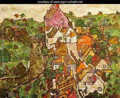 Egon Schiele, Landscape at Krurr