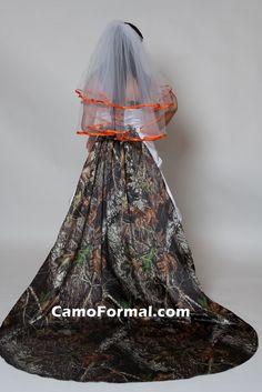 camo wedding dresses mossy oak | Home / Bridesmaids / Dresses / * 3135M Strapless, Pickup Skirt, with ...