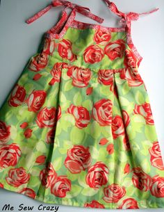 Little bitty sundress with pleats - tutorial