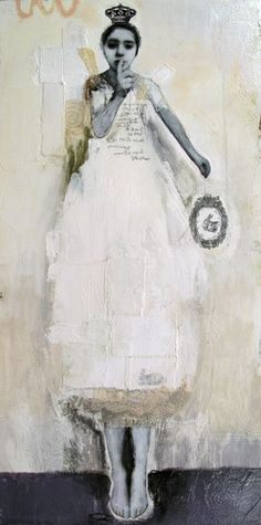 Par-delà le bien et le mal vendue-sold Idea for encaustic: paper doll-ish by… Mixed Media Collage, Collage Art, Figure Painting, Painting & Drawing, Collages, Kunst Online, Photocollage, Encaustic Art, Art Plastique