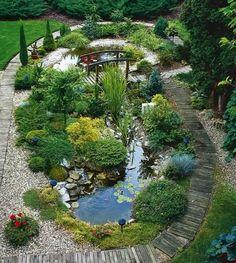 62 Amazing Fresh Frontyard and Backyard Landscaping Ideas We've arrange a collection garden styles to … Backyard Garden Design, Ponds Backyard, Backyard Ideas, Pergola Ideas, Patio Ideas, Pond Ideas, Backyard Designs, Fence Ideas, Amazing Gardens