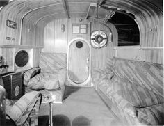 Cabin of a Pan American Airways Sikorsky flying boat, circa Airplane Flying, Flying Boat, Airplane History, Airplane Interior, Amphibious Aircraft, Aircraft Interiors, Float Plane, Private Plane, Engin