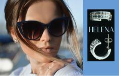 Las gafas de sol grandes y los pendientes de brillantes junto con un recogido alto, son tres elementos icónicos de estilo que popularizó la actriz Audrey Hepburn en lo 60's (pendientes HELENA, plata y cristales swarovski). Tienda: www.miara.es #trends #outfits #fashioniconic #glamaccesories #glam #cool #stylish #beautiful