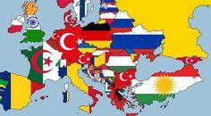 """""""Ülkelerde yaşayan 2. büyük etnik gruba göre Avrupa haritası çizmişler, işte ortaya çıkan tablo"""""""