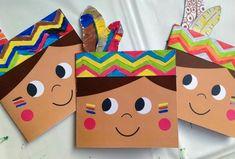 Make your own birthday cards for little kids święto dziękczynienia, rzemios Kids Crafts, Fall Crafts, Holiday Crafts, Anniversaire Cow-boy, Birthday Invitations, Birthday Cards, Art Birthday, Thanksgiving Preschool, Indian Crafts
