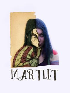 autoportret by martlet-art.deviantart.com on @DeviantArt#artist #artwork #bluehair #bluehairedgirl #girl #illustrator #portrait