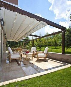 The wooden pergola is a good solution to add beauty to your garden. If you are not ready to spend thousands of dollars for building a cozy pergola then you may devise new strategies of trying out something different so that you can re Diy Pergola, Pergola With Roof, Outdoor Pergola, Covered Pergola, Pergola Shade, Patio Roof, Outdoor Rooms, Backyard Patio, Outdoor Living