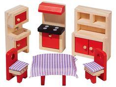 Playtive Junior maison de poupée Möbelset Bois Enfants Cuisine Möbelset Accessoires