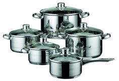 ELO Skyline Stainless Steel Kitchen Induction Cookware Pots and Pans Set with Air Ventilated Lids, 10-Piece * New and awesome product awaits you, Read it now  : Cookware Sets