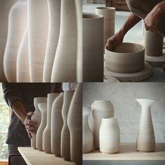 Tortus Copenhagen ceramic studio via We Are Scout Ceramic Studio, Ceramic Clay, Pottery Vase, Ceramic Pottery, Tortus Copenhagen, Vases, Pots, Pottery Classes, Pottery Studio