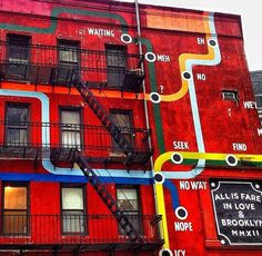 Love this cool wall in Brooklyn #art