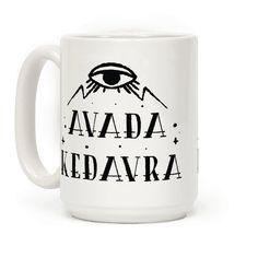 Avada Kedavra - The Killing Curse! Show that your are not to be trifled with before your morning coffee with this nerdy mug.