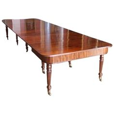 Fine Quality Regency Mahogany Dining Table, circa 1820 from Sugwas Court | From a unique collection of antique and modern dining room tables at https://www.1stdibs.com/furniture/tables/dining-room-tables/