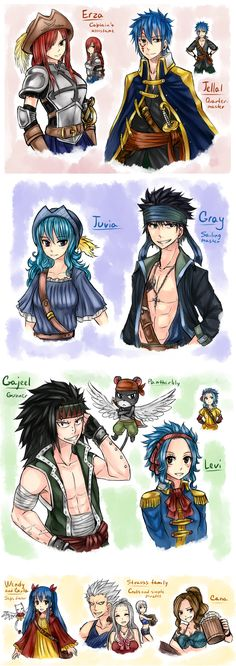 AU - pirates NaLu. 4 by LeonS-7.deviantart.com on @DeviantArt