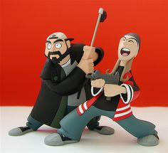Graphitti Designs Clerks Inaction Figures Dogma Jay and Silent Bob Figures