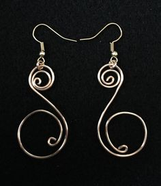 Wire Spiral Earrings by BoomChakraLaka on Etsy