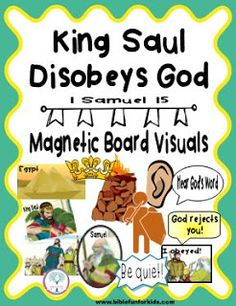 Saul Disobeys God  1 Samuel 15 Visuals #Biblefun #cathyscorner #OTBiblelesson