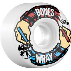 Bones Wray Hands Wheels (STF/V3/White/52mm) $29.95