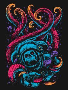 (via Digital Orgasm – Graphic designer and illustrator Digital Orgasm dead astronaut – Whitezine   Design Graphic & Photography Inspirat...
