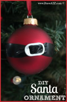DIY Santa Ornament Craft Idea