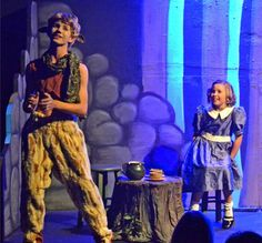 """Vincent Pugliese as Tumnus the faun entertains Makenna Jacobs as Lucy in """"Narnia: The Lion, the Witch and the Wardrobe"""" at Valley Youth Theatre - #examinercom"""