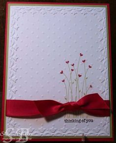 When Perfect Polka Dots meet the Framed Tulips Embossing Folder - As The Ink Dries