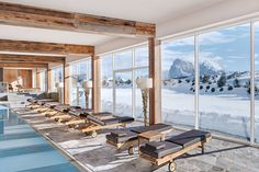 The Alpina Dolomites Lodge is located on the Alpe di Siusi, Europe's most beautiful and largest high-altitude plateau which is exactly why. Mountain Resort, Hospitality Design, Places Of Interest, Worlds Of Fun, Architecture, Gallery, Hotels, Home Decor, Ski Italy