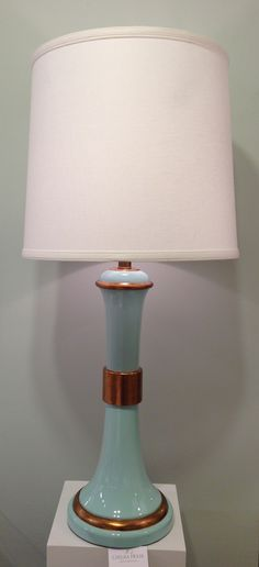 2012 Fall Market Trend: Aqua + Gold Lamp by Lisa Kahn for Chelsea House - 200 N. Hamilton St. #hpmkt #stylespotters