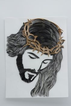 Jesus Christ face quilling