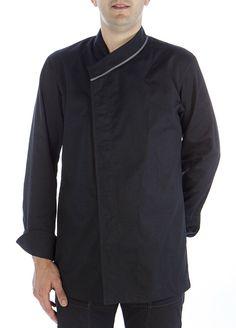 Chaqueta oriental V-negra #chaquetascocinero #cocina #csty #uniformeshosteleria