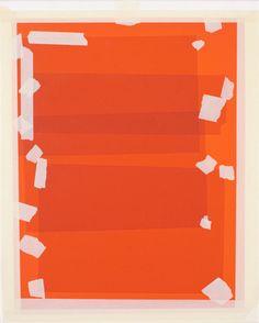 Trompe l'oeil Oil paintings of gels and tape, by Kees Goudzwaard.