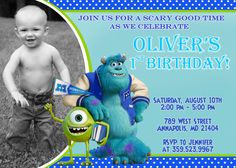 Monster University Birthday Party Invitation by FabulousInvitation, $8.99