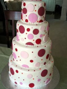 Cute Polka dot, would be great with just one tier too!