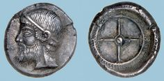G760 An Excessively Rare and Important Greek Silver Drachm of Kalchedon (Bithynia), a Masterpiece of Late Archaic/Early Classical Portraiture | Flickr: Intercambio de fotos