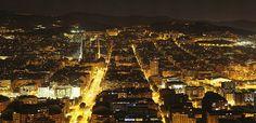 Foto panorámica de Barcelona