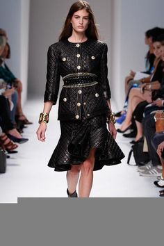 Balmain Spring 2014 Ready-to-Wear Collection Slideshow on Style.com reminds me of vintage chanel