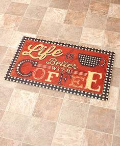 kitchen floor mat life is better with coffee novelty cushioned floor mat in home u0026 garden rugs u0026 carpets door mats u0026 floor mats