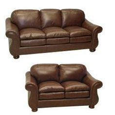 overstock the sterling cognac brown italian leather sofa loveseat